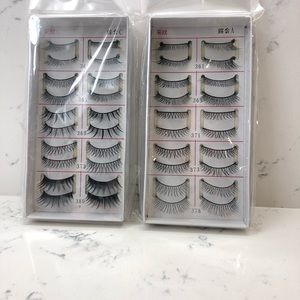20 pairs high quality synthetic false lashes.